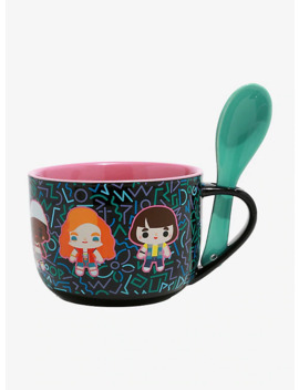 Stranger Things Chibi Neon Soup Mug &Amp; Spoon by Hot Topic
