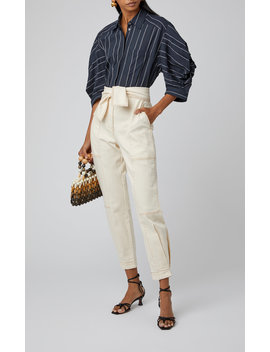 Storm High Rise Tapered Jeans by Ulla Johnson