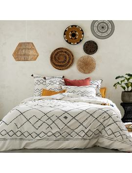Afaw Berber Print Cotton Duvet Cover With Tassels by La Redoute Interieurs