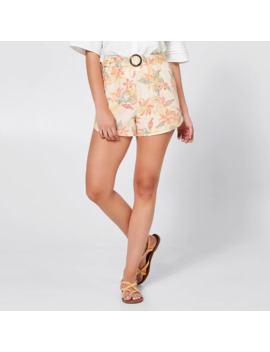 Piping Hot Belted Shorts   Soft Tropics by Target
