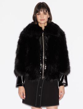 Faux Fur Jacket by Armani Exchange