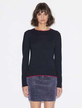 Pullover With Contrast Edges by Armani Exchange