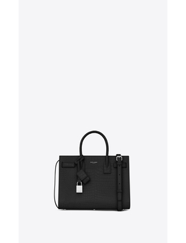 Classic Sac De Jour Baby In Embossed Crocodile Shiny Leather by Orchard Mile