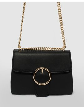 Black Rachel Round Small Crossbody Bag by Colette Hayman
