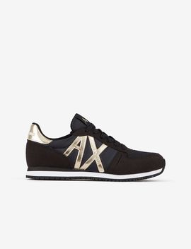 Sneakers With Logo And Contrasting Details by Armani Exchange