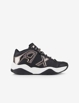 Sneakers With Mirrored Inserts by Armani Exchange