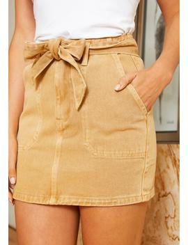 Tansy Womens Khaki Denim Skirt by Asoph