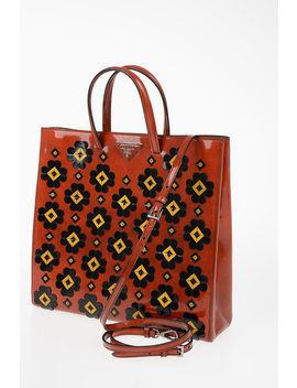 Flowers Embroidered Shopping Bag by Prada