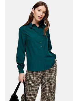 Khaki Classic Shirt by Topshop