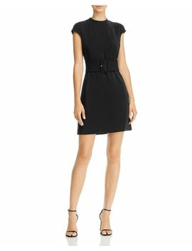 Theory Mod Belted Black Mini Dress 0 Nwt New $345 by Ebay Seller