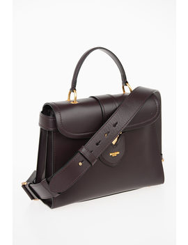 Couture Leather Flap Hand Bag by Moschino