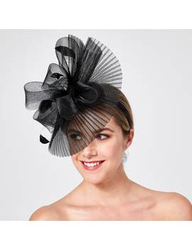 Pleated Crinoline Fascinator   Black by Target
