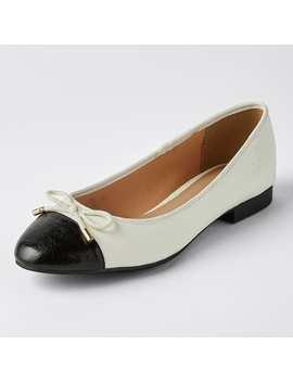 Felicity Toe Cap Ballet Flats   Cream Snake by Target