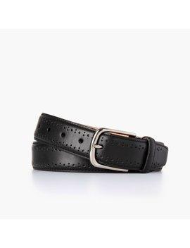 Men's Brogue Leather Belt   by Thursday Boots