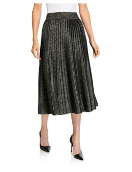 Nevada Metallic Pleated Midi Skirt by A.L.C.