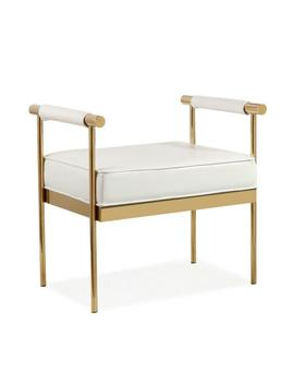 Diva White Eco Leather Bench by Tov Furniture