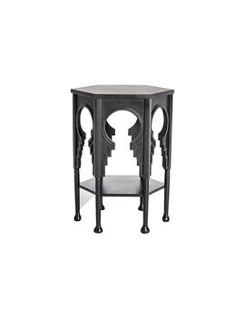Jacobean Side Table, Ebony by Global Views
