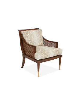 Kirkwood Accent Chair, Fawn Linen by Michael Thomas Collection