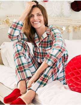 Vanessa Cosy Pyjamas   Rockabilly Red, Linden Check by Boden