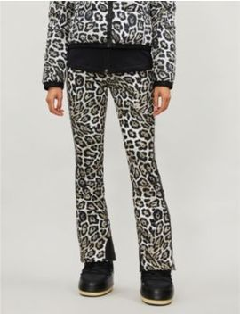 Roar Leopard Print Shell Ski Trousers by Goldbergh