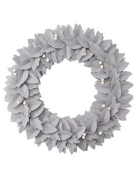 Felt Wreath   Grey by Indigo