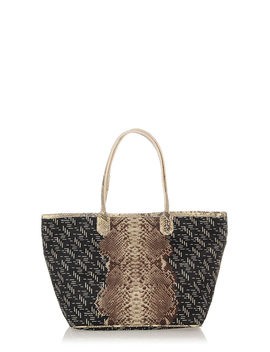 Shopper Easy Bag With Python Skin Detail by Franzi