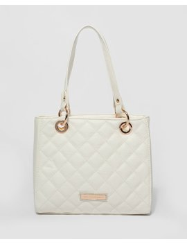 White Nirvana Quilt Mini Tote Bag by Colette Hayman