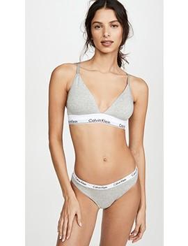 Modern Cotton Lightly Lined Triangle Bralette by Calvin Klein Underwear