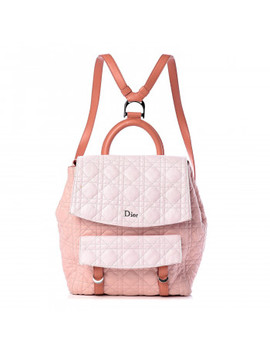 Christian Dior Lambskin Cannage Large Stardust Backpack Pink by Christian Dior