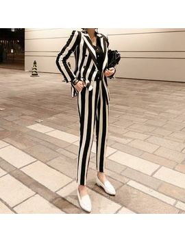 Yilda   Set: Striped Blazer + Pants by Yilda