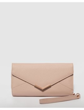 Pink Ally Envelope Wallet by Colette Hayman
