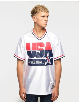 Mitchell & Ness Usa '92 Dream Team Scottie Pippen Shooting Shirt White by Mitchell And Ness