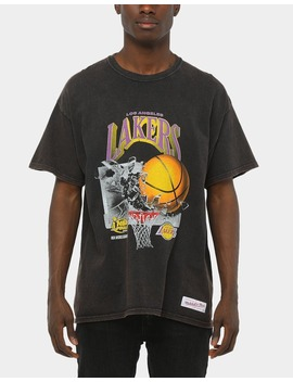 Mitchell & Ness Los Angeles Lakers Vintage Champ Ring Tee Black by Mitchell And Ness