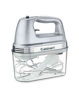 Cuisinart® 7 Speed Electric Hand Mixer In Brushed Chrome With Storage Case by Bed Bath And Beyond
