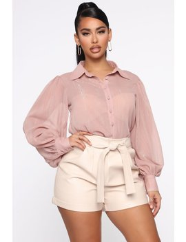 Key To Success Button Down Shirt   Mauve by Fashion Nova