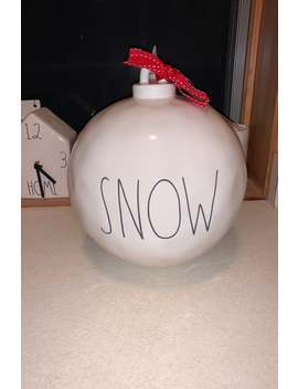 Rae Dunn Extra Large Snow Ornament by Rae Dunn