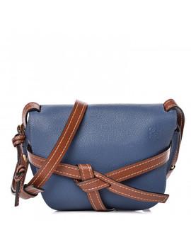 Loewe Grained Calfskin Small Gate Crossbody Bag Varsity Pecan by Loewe