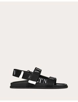 Calfskin Sandal With Vltn Band by Valentino Garavani
