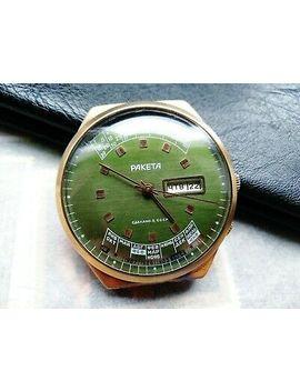 Raketa College Perpetual Guarantee Vintage Soviet Wrist Watch Gold Plated by Ebay Seller