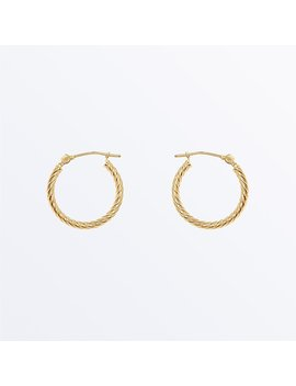14 K Gold Earrings    Small Twisted Hoops              Regular Price        $135 by Ana Luisa