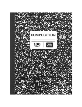 Pen+Gear 100 Sheets Marble Composition Book Wide Ruled by Pen+Gear