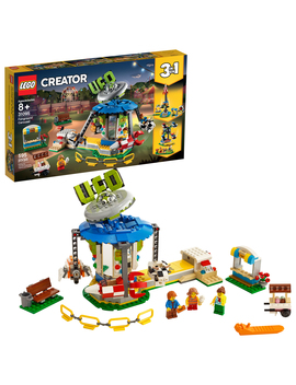Lego Creator Fairground Carousel 31095 Space Themed Building Kit (595 Pieces) by Lego