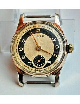 1950s Pobeda Zim Military Style Vintage Russian Soviet Ussr Watch 15 Jewels by Ebay Seller