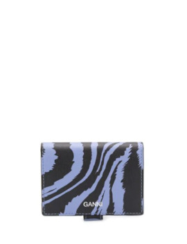 Zebra Print Wallet by Ganni