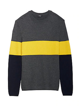 Zoren Colorblock Wool Sweater by Theory