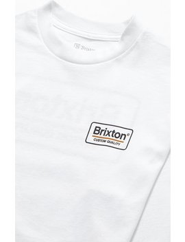 Brixton White Palmer Ii Long Sleeve T Shirt by Pacsun