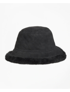 Shearling Bucket Hat by Brooks Brothers