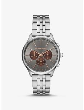 Sutter Silver Tone Watch by Michael Kors
