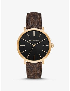 Blake Logo And Gold Tone And Watch by Michael Kors