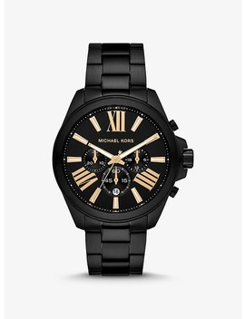 Oversized Wren Black Tone Watch by Michael Kors